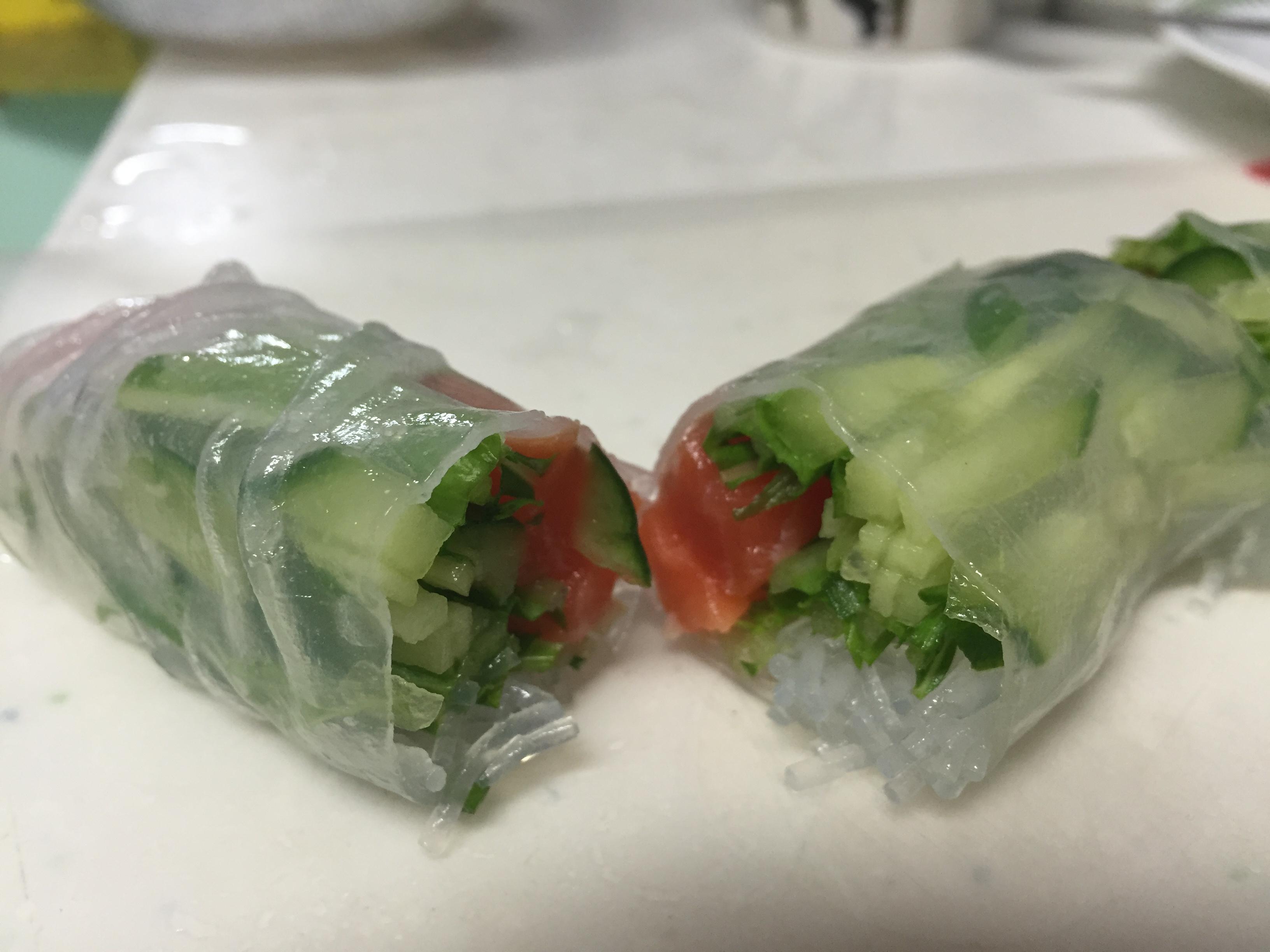 野菜がたっぷり摂れる生春巻き