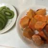 今日のお弁当とフルーツ
