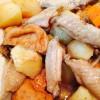 鳥の手羽中とジャガイモの煮物
