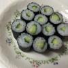 100均の型を使った手作りの細巻き寿司